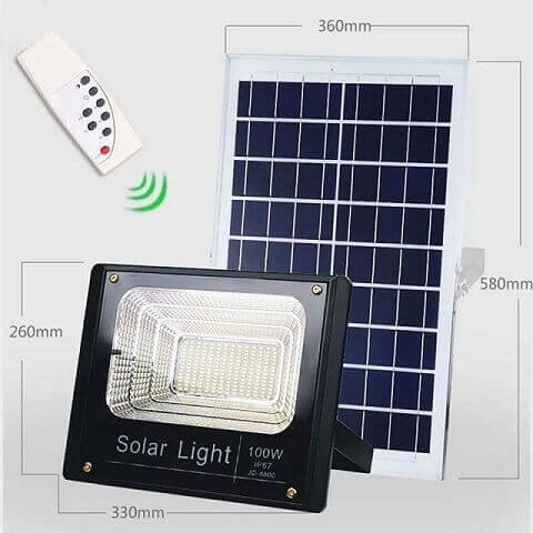 Đèn pha LED năng lượng mặt trời 100W FL100
