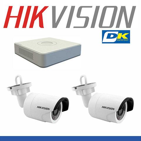 Bộ 2 camera thân Hikvision 2.0 MP