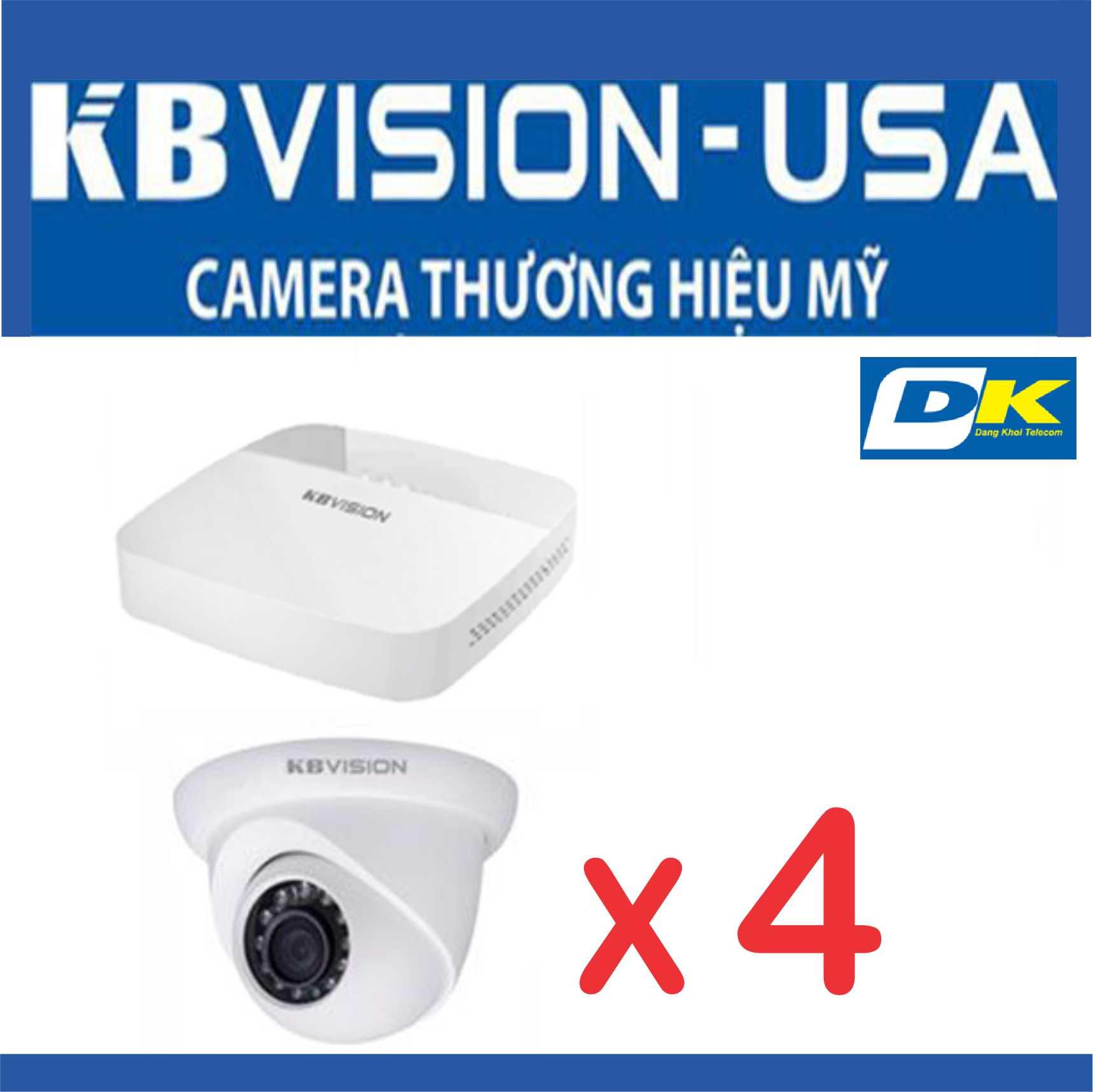 Bộ 4 Camera Kbvision CVI Thương Hiệu Mỹ