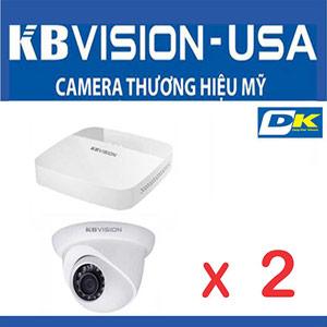 Trọn Bộ 2 Camera KBvision 2.0 Megapixel Thương Hiệu Mỹ