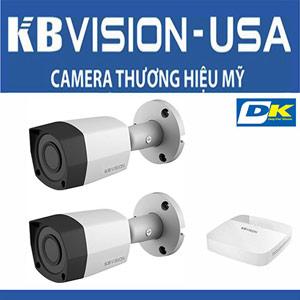 Bộ 2 camera Kbvision Thương Hiệu Mỹ Ngoài Trời