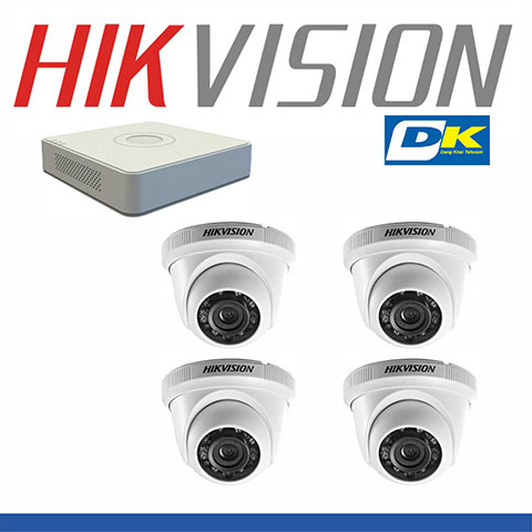 Bộ 4 Camera Hikvision DS-2CE56C0T-IRP 1MP
