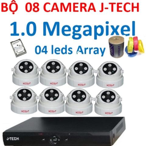 Lắp đặt trọn bộ 8 camera ahd j-tech