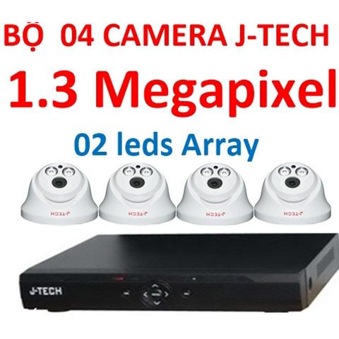Trọn bộ 4 camera ahd j-tech 1.3mp