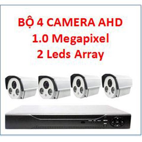 Trọn bộ 4 camera ahd j-tech