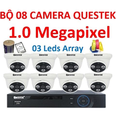 trọn bộ 8 camera ahd questek qtx-4161ahd