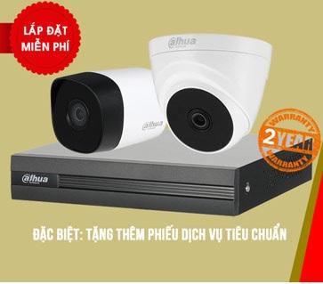 bộ 2 camera dahua