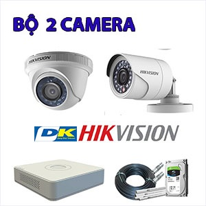 Trọn bộ 2 camera Hikvision 2.0 MP DS-2CE56DOT-IR