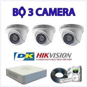 Lắp Đặt Trọn Bộ 3 Camera Giám Sát Hikvision 2MP 1080P