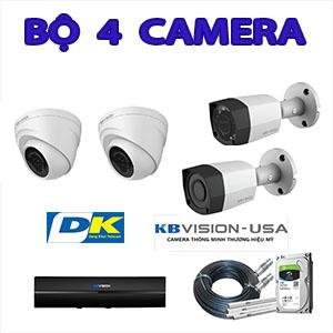 Trọn Bộ 4 Camera Kbvision 2.0 MP Thương Hiệu Mỹ