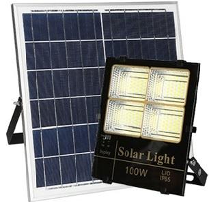 Đèn pha LED 100W năng lượng mặt trời